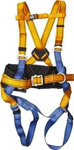 СП-03 страховочная и удерживающая привязь, прошитый высокий кушак, СИБИН