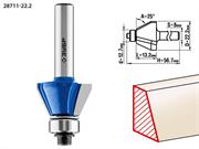 ЗУБР D=22.2 мм, рабочая длина-13.2 мм, угол наклона-25 градусов, хв.-8 мм, d=12.7 мм, фреза кромочная калевочная(фасочная) №9 28711-22.2
