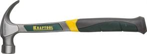 Молоток-гвоздодер, KRAFTOOL 20270, цельнометаллический, 560г