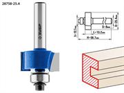 ЗУБР D=25.4 мм, рабочая длина-13 мм, хв.-8 мм, d=12.7 мм, фреза фальцевая 28758-25.4