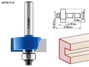 ЗУБР D=31.8 мм, рабочая длина-12.7 мм, хв.-8 мм, d=12.7 мм, фреза фальцевая 28758-31.8