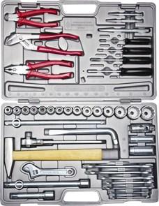 """Набор слесарно-монтажного инструмента НИЗ """"АВТОМОБИЛИСТ-1"""", сталь 40Х, 1/2"""", в пластиковом кейсе, 42 предмета"""