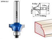 ЗУБР D=22.2 мм, рабочая длина-9 мм, радиус-4.8 мм, хв.-8 мм, d=9.5 мм, фреза кромочная калевочная №1 28700-22.2