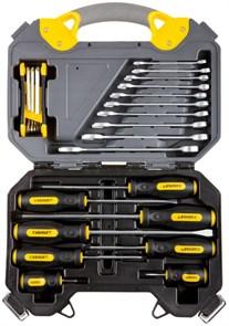 """Набор инструментов STAYER """"PROFI"""" универсальный, высококачественная CRV сталь, хромированное покрытие, 26 предметов"""