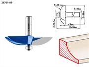 ЗУБР D=89 мм, рабочая длина-16 мм, радиус-38,1 мм, хв.-12 мм, d-12,7 мм, фреза фигирейная №2, 28761-89