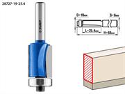 ЗУБР D=19 мм, рабочая длина-25.4 мм, хв.-8 мм, d=19 мм, фреза кромочная с нижним подшипником 28727-19-25.4