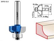 ЗУБР D=22.2 мм, рабочая длина-8 мм, радиус-4.8 мм, хв.-8 мм, d=12.7 мм, фреза кромочная калевочная №2 28702-22.2