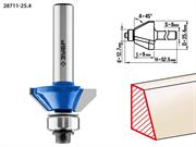 ЗУБР D=25.4 мм, рабочая длина-9 мм, угол наклона-45 градусов, хв.-8 мм, d=12.7 мм, фреза кромочная калевочная(фасочная) №9 28711-25.4