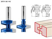 ЗУБР рабочая длина-28,6 мм, хв.-12 мм, D=38,1 мм, набор фрез пазо-шиповых 28731-38.1-H2