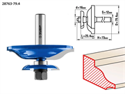 ЗУБР D=79,4 мм, рабочая длина-25,4 мм, хв.-12 мм, d-16 мм, фреза фигирейная двухсторонняя 28763-79.4