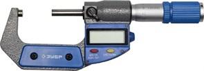 ЗУБР 25-50 мм, микрометр цифровой 34482-50