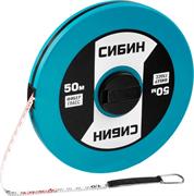 СИБИН 50 м х 10х0.16 мм, мерная лента фиберглассовая 34154-50 Профессионал