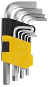 STAYER 9 шт., Cr-V, ключи имбусовые укороченные 2740-H9