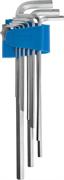 ЗУБР 9 шт., Cr-V, ключи имбусовые длинные 27465-H9
