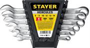 STAYER 6 шт, 6 - 14 мм, набор комбинированных гаечных ключей HERCULES 27085-H6_z01