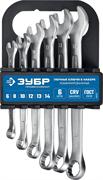 ЗУБР 6 шт, 6 - 14 мм, набор комбинированных гаечных ключей 27088-H6_z01
