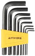 STAYER 8 шт., ключи имбусовые 27405-H8