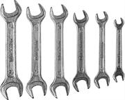 6 шт, 6 - 15 мм, набор ключей гаечных рожковых 27015-H6