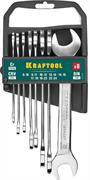 KRAFTOOL 8 шт, 8 - 24 мм, набор ключей гаечных рожковых 27033-H8C_z01