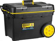 "STAYER 620 х 370 х 420 мм (24.5""), пластиковый, ящик-тележка для инструментов BIGPro 38107-24 Professional"