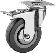 ЗУБР 100 мм, 65 кг, колесо поворотное c тормозом 30956-100-B