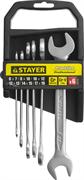STAYER 6 шт, 6 - 19 мм, набор ключей гаечных рожковых 27037-H6