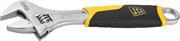 JCB 200 мм, хромированное покрытие, двухкомпонентная рукоятка, CrV cталь, ключ разводной JPL021