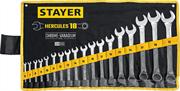 STAYER 18 шт, 6 - 32 мм, набор комбинированных гаечных ключей HERCULES 27081-H18_z01