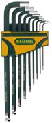 KRAFTOOL 9 шт., ключи имбусовые в наборе HEX INDUSTRIE 27445-H9