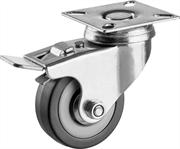 ЗУБР 50 мм, 35 кг, колесо поворотное c тормозом 30956-50-B