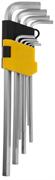 STAYER 9 шт., Cr-V, ключи имбусовые удлиненные 2741-H9