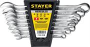 STAYER 8 шт, 8 - 19 мм, набор комбинированных гаечных ключей HERCULES 27085-H8_z01