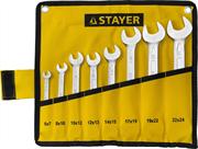 STAYER 8 шт, 6 - 24 мм, набор ключей гаечных рожковых 27035-H8