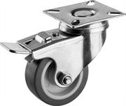ЗУБР 50 мм, 40 кг, колесо поворотное c тормозом 30946-50-B Профессионал