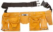 STAYER 10 карманов, кожаный, петля (скоба) для крупного инструмента, пояс для инструментов 38510