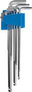ЗУБР 9 шт., Cr-V, ключи имбусовые длинные 27466-H9