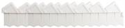 GRINDA 15х288 см, белый, ограждение для клумб 8-422305