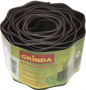 GRINDA 10 см х 9 м, коричневая, лента бордюрная 422247-10