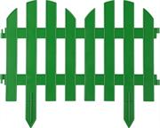 GRINDA 28х300 см, зеленый, забор декоративный ПАЛИСАДНИК 422205-G