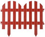 GRINDA 28х300 см, терракот, забор декоративный ПАЛИСАДНИК 422205-T