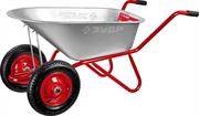 ЗУБР 90 л, 180 кг, тачка садово-строительная двухколесная Т-21 39952