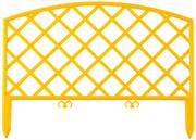 GRINDA 28х320 см, желтый, забор декоративный ПЛЕТЕНЬ 422207-Y