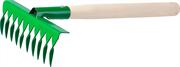 РОСТОК 10 зубцов, 405 мм, грабельки садовые с деревянной ручкой 39614