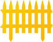 GRINDA 28х300 см, желтый, забор декоративный КЛАССИКА 422201-Y