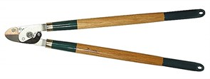 Сучкорез RACO с дубовыми ручками, 2-рычажный, с упорной пластиной, рез до 36мм, 700мм