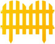 GRINDA 28х300 см, желтый, забор декоративный ПАЛИСАДНИК 422205-Y