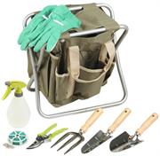 GRINDA 7 предметов, двухсторонняя, с сумкой и набором инструментов, скамейка садовая складная 8-422353-H8_z01