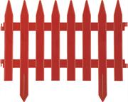 GRINDA 28х300 см, терракот, забор декоративный КЛАССИКА 422201-T