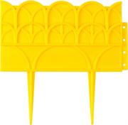 GRINDA 14х310 см, желтый, бордюр декоративный для цветников 422223-Y