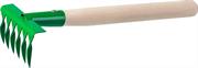 РОСТОК 6 зубцов, 405 мм, грабельки садовые с деревянной ручкой 39611